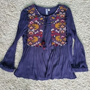 Blouse with Tie Front